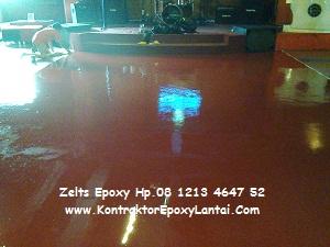 aplikasi epoxy floor atau epoxy lantai